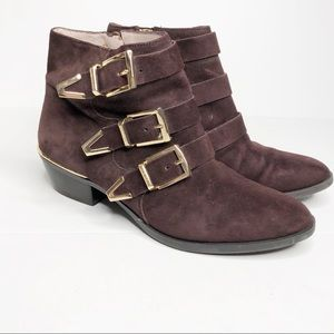Vince Camuto Tipper Ankle Boots Size 6M Brown